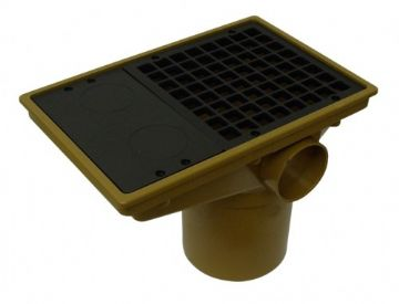 Underground Drainage Rectangular Gully Hopper - 110mm
